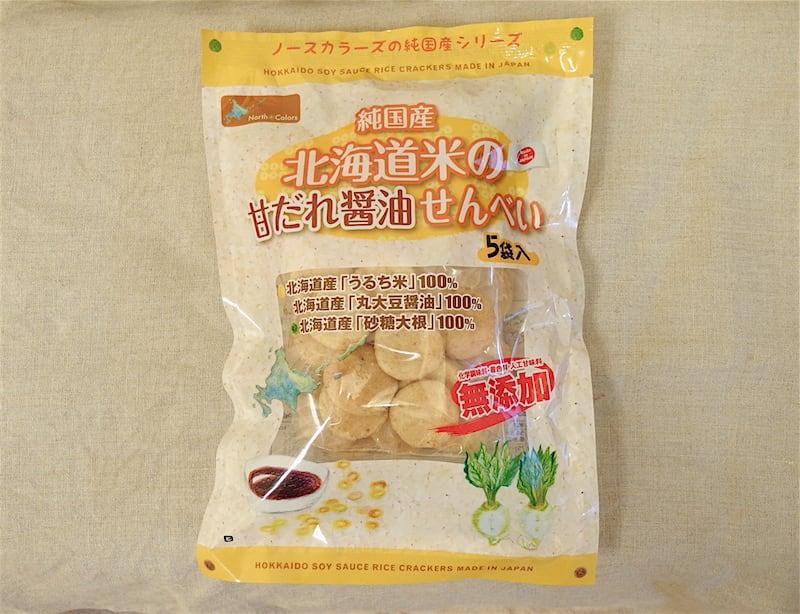 ノースカラーズ 純国産 北海道米の甘だれ醤油せんべい パッケージ